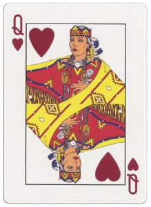 #PlayingCardsTop1000 – Queen of hearts deck for indian casinos in the USA