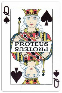 Queen of spades Carnival of New Orleans deck