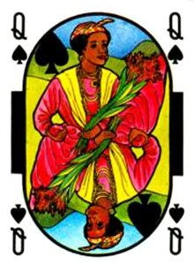 Queen of spades Cartes de jeu Martinique par Martine Porry