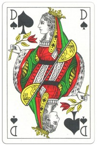 Queen of spades Classic Belgian cards