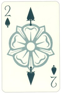 Wars of roses playing card 2 of spades