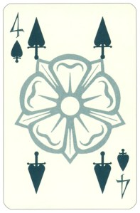 Wars of roses playing card 4 of spades