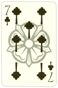 Wars of roses playing card 7 of clubs