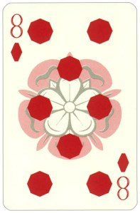Wars of roses playing card 8 of diamonds