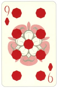 Wars of roses playing card 9 of diamonds