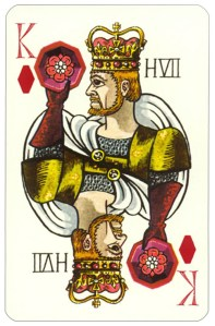 Wars of roses playing card King of diamonds