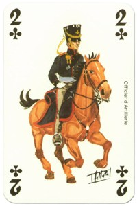 cavalry 2 of clubs Waterloo battle playing cards