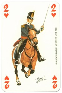 cavalry 2 of hearts Waterloo battle playing cards