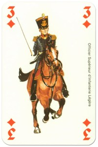 #PlayingCardsTop1000 – cavalry 3 of diamonds Waterloo battle playing cards