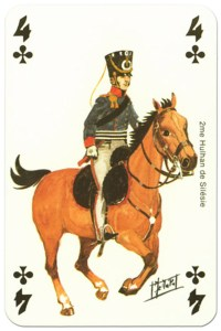 cavalry 4 of clubs Waterloo battle playing cards