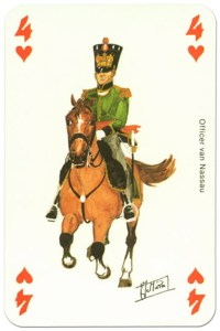 cavalry 4 of hearts Waterloo battle playing cards