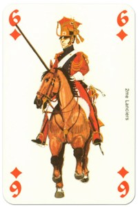 #PlayingCardsTop1000 – cavalry 6 of diamonds Waterloo battle playing cards