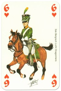 cavalry 6 of hearts Waterloo battle playing cards