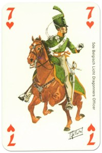 #PlayingCardsTop1000 – #PlayingCardsTop1000 – cavalry 7 of hearts Waterloo battle playing cards