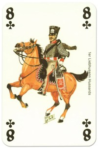 #PlayingCardsTop1000 – cavalry 8 of clubs Waterloo battle playing cards
