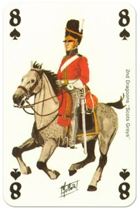 #PlayingCardsTop1000 – #PlayingCardsTop1000 – cavalry 8 of spades Waterloo battle playing cards