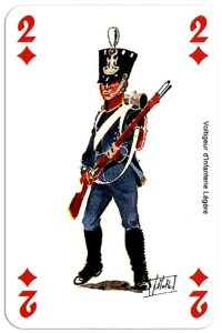 #PlayingCardsTop1000 – infantry 2 of diamonds Deck Waterloo battle