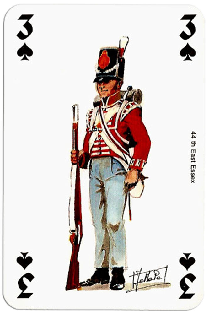 #PlayingCardsTop1000 – infantry 3 of spades Deck Waterloo battle