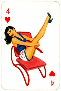 Dandy Pin up Bubble Gum advertisement cards 1956 Four of hearts 11