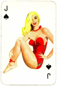 Dandy Pin up Bubble Gum advertisement cards 1956 Jack of spades 04
