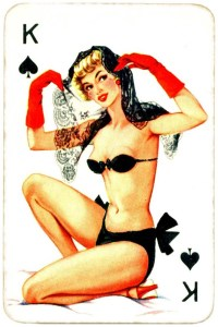 Dandy Pin up Bubble Gum advertisement cards 1956 King of spades 02
