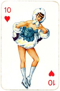 Dandy Pin up Bubble Gum advertisement cards 1956 Ten of hearts 05