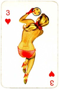 Dandy Pin up Bubble Gum advertisement cards 1956 Three of hearts 12