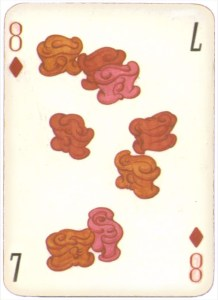 Mongolian National Economical Bank lovely graphic design Eight of diamonds 07