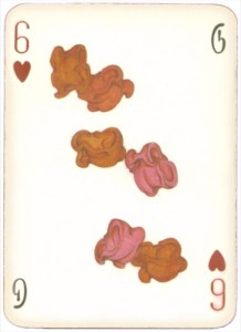 Mongolian National Economical Bank lovely graphic design Six of hearts 05