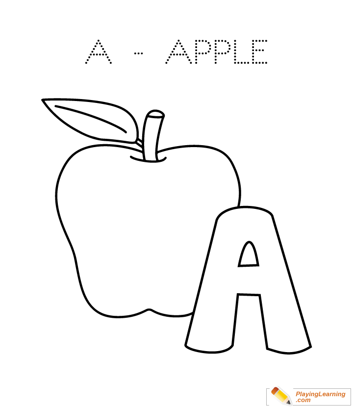 A Is For Apple Coloring Page Free A Is For Apple