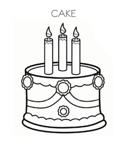 Cake And Birthday Cake Coloring Pages Playing Learning