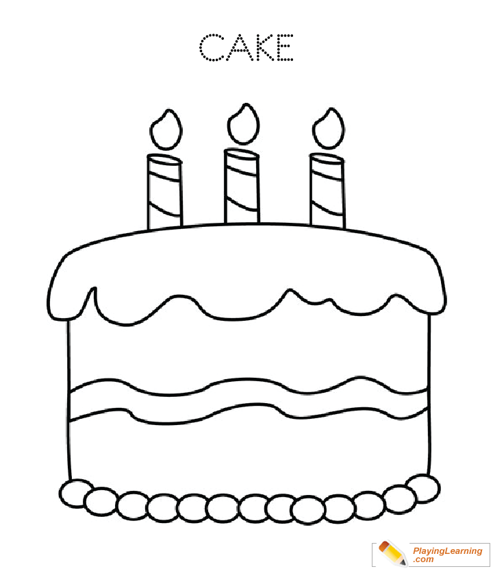 Birthday Cake Coloring Page 37 Free Birthday Cake Coloring Page
