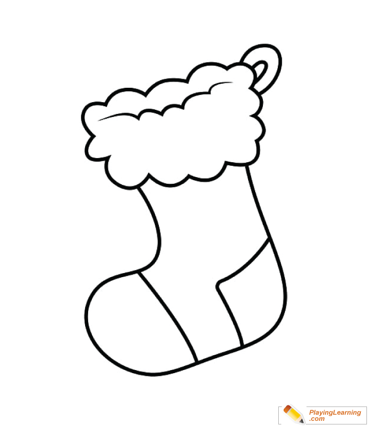 Christmas Stocking Coloring Page 05 Free Christmas Stocking Coloring Page