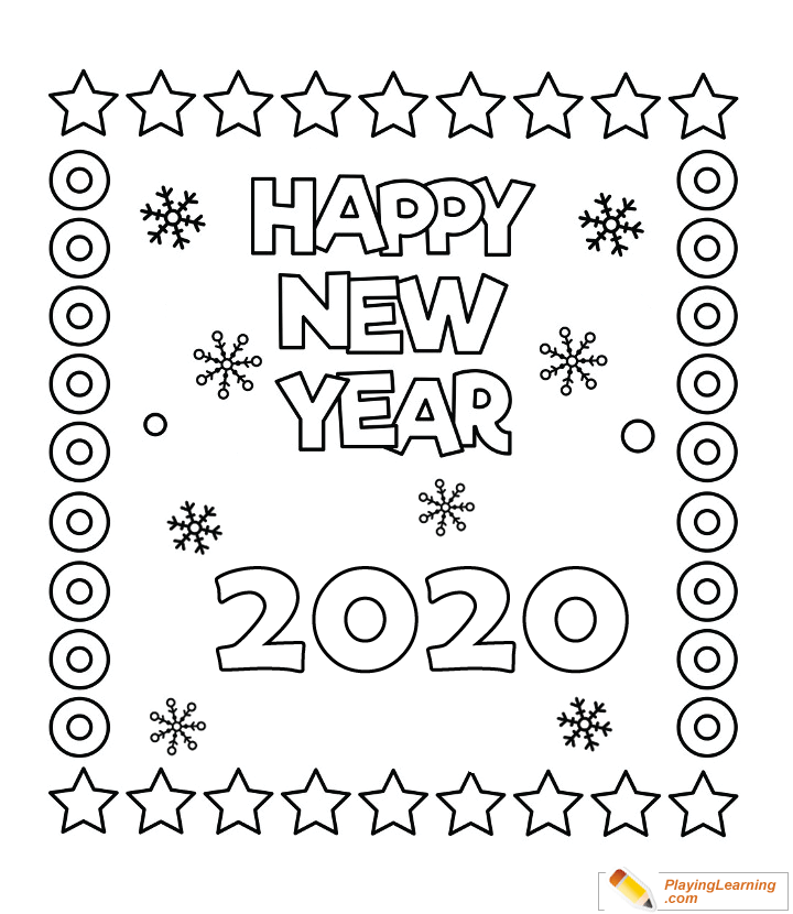 happy new year  coloring page 01  free happy new year