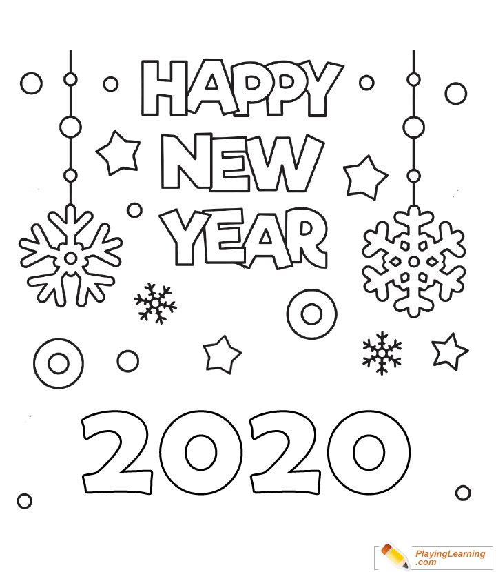 happy new year  coloring page 02  free happy new year