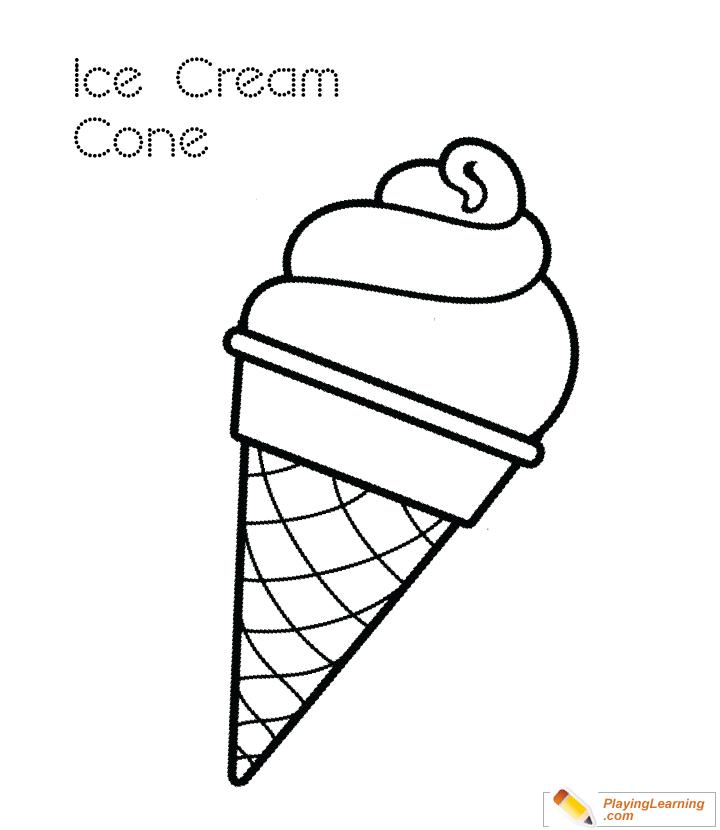 Ice Cream Cone Coloring Page 05 Free Ice Cream Cone Coloring Page