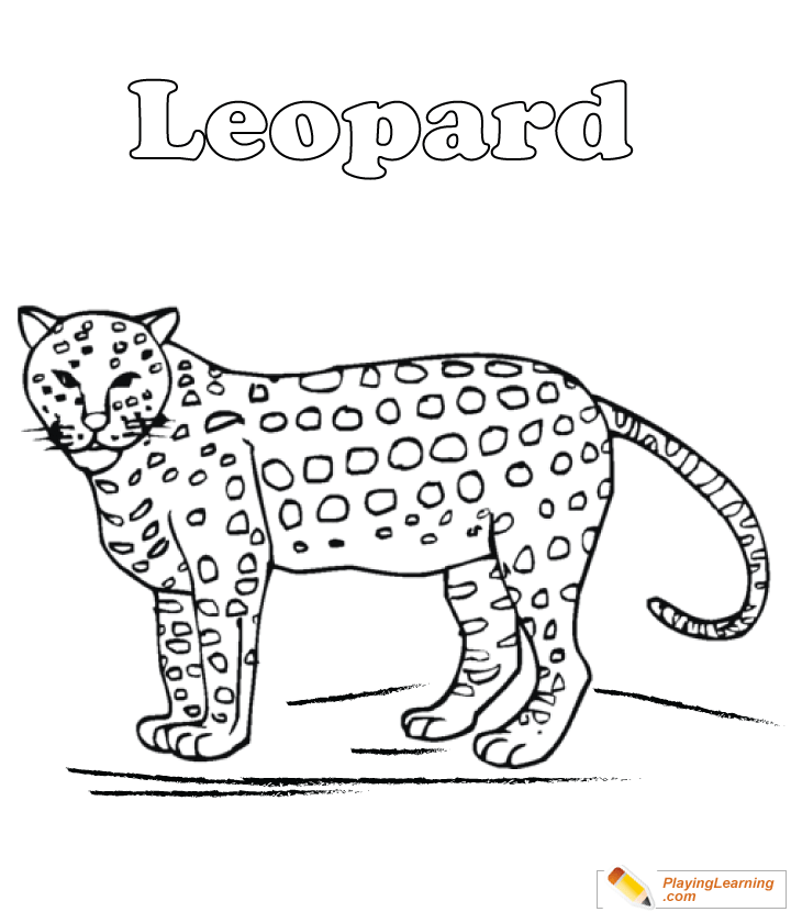 Leopard Coloring Page 01 Free Leopard Coloring Page