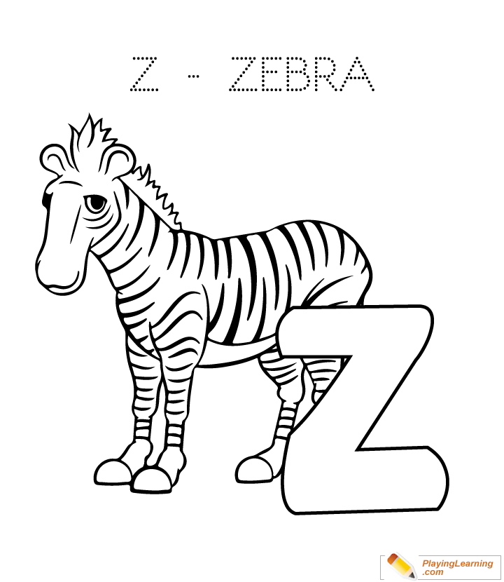 Z Is For Zebra Coloring Page Free Z Is For Zebra