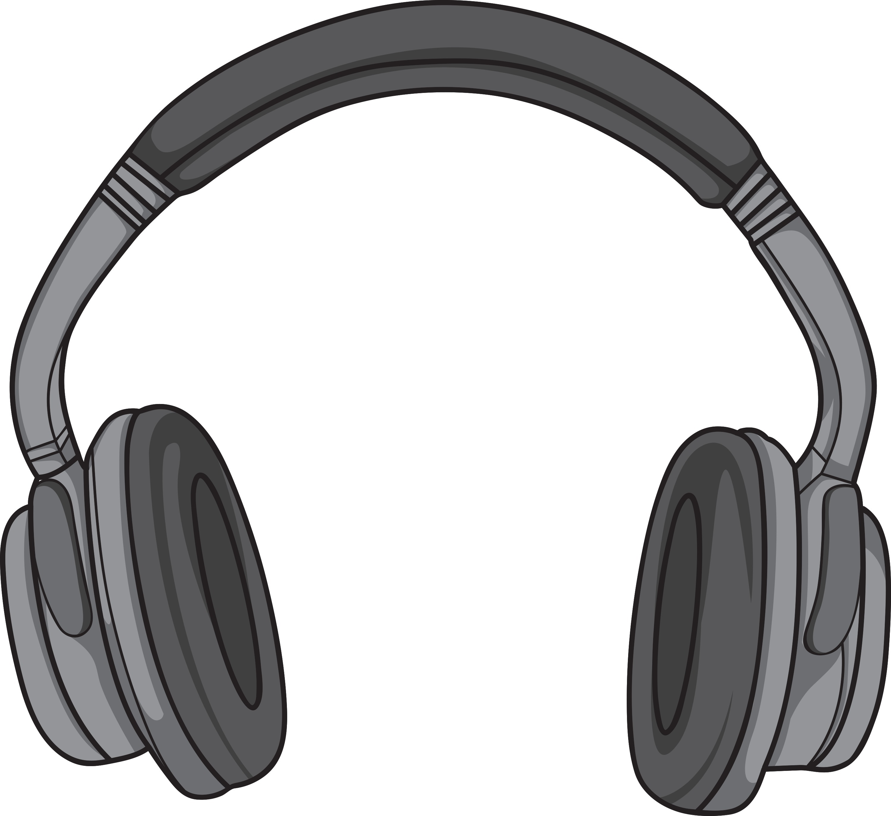 An illustrated pair of headphones.
