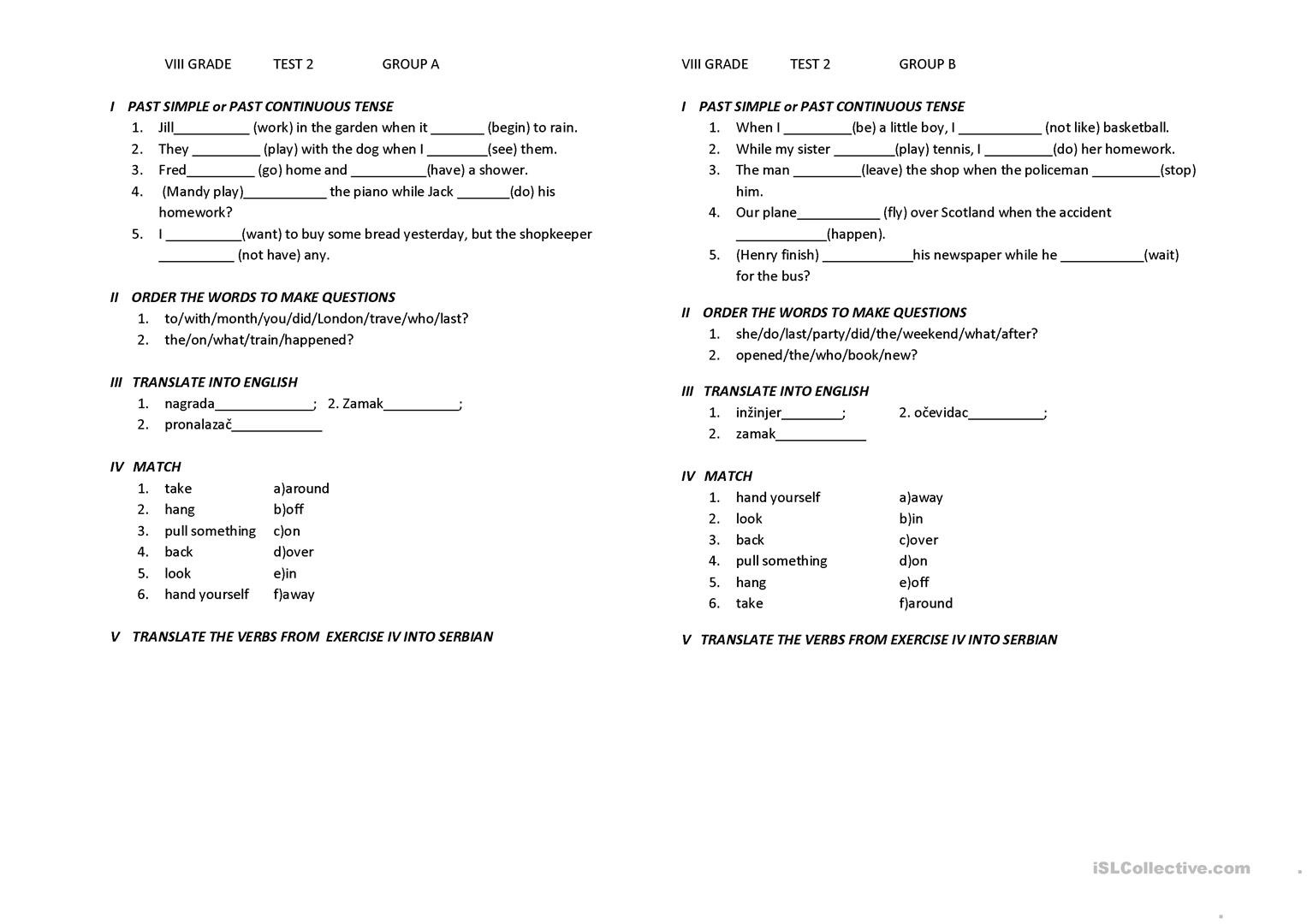 Grammar Worksheets For 8th Graders