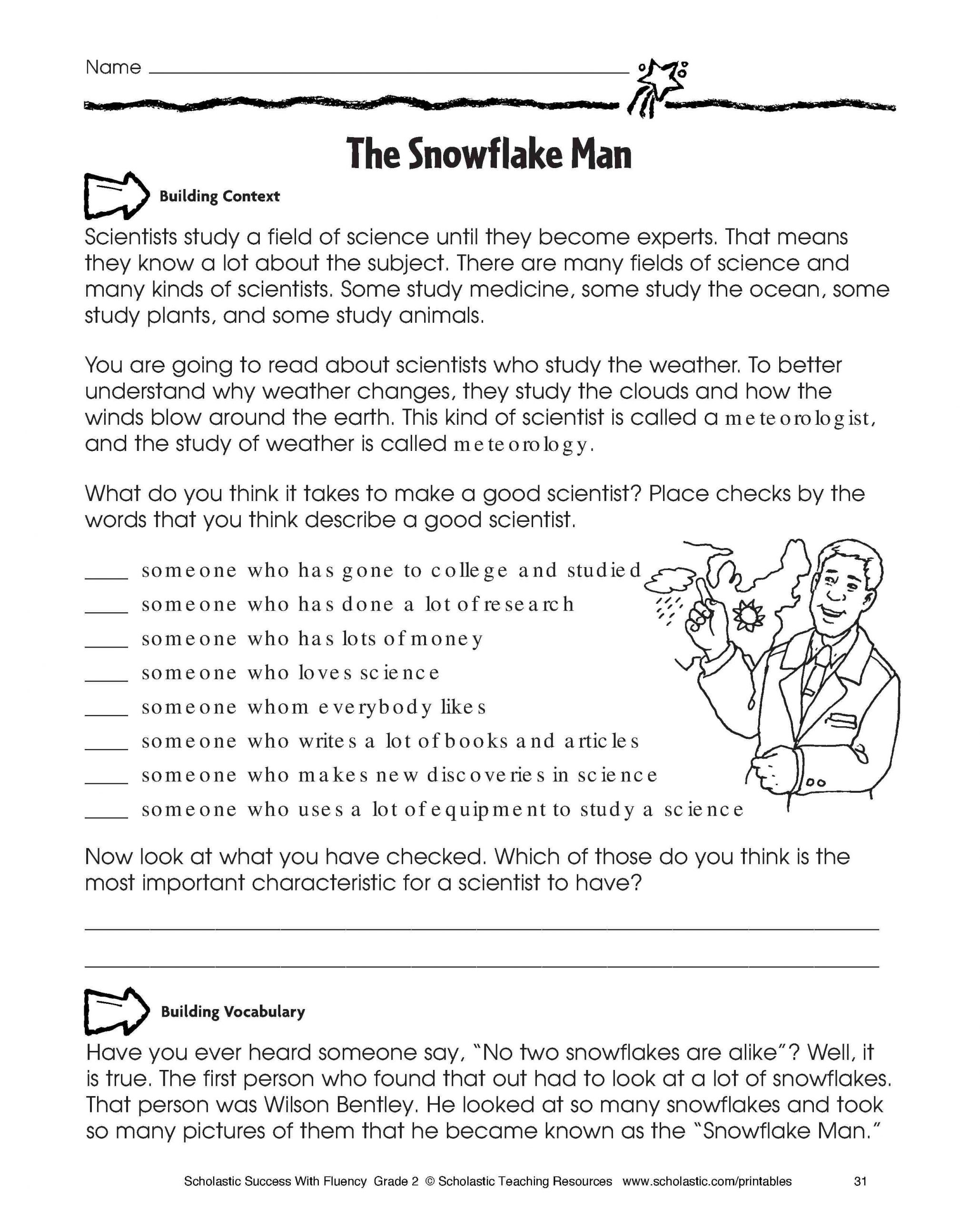 Informational Text Worksheets Middle School