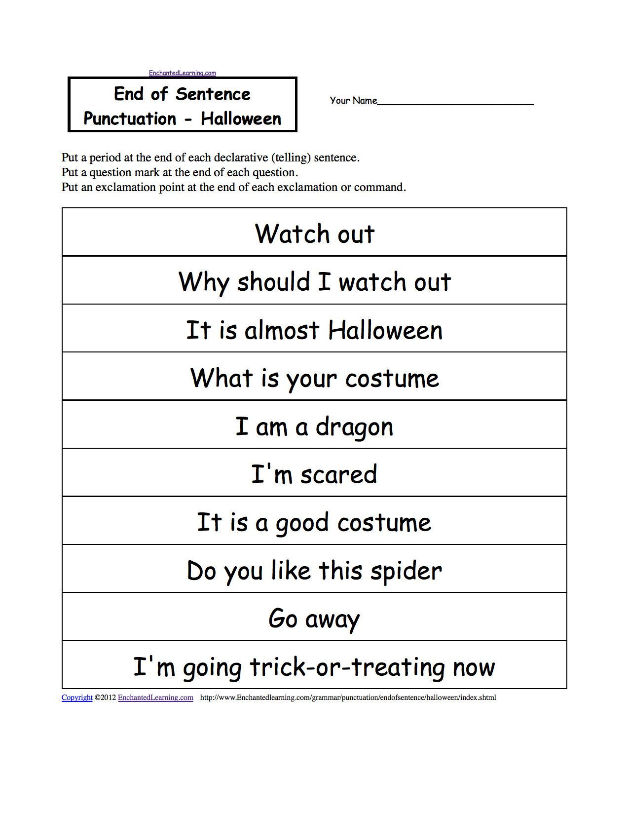 Printable Capitalization Worksheets