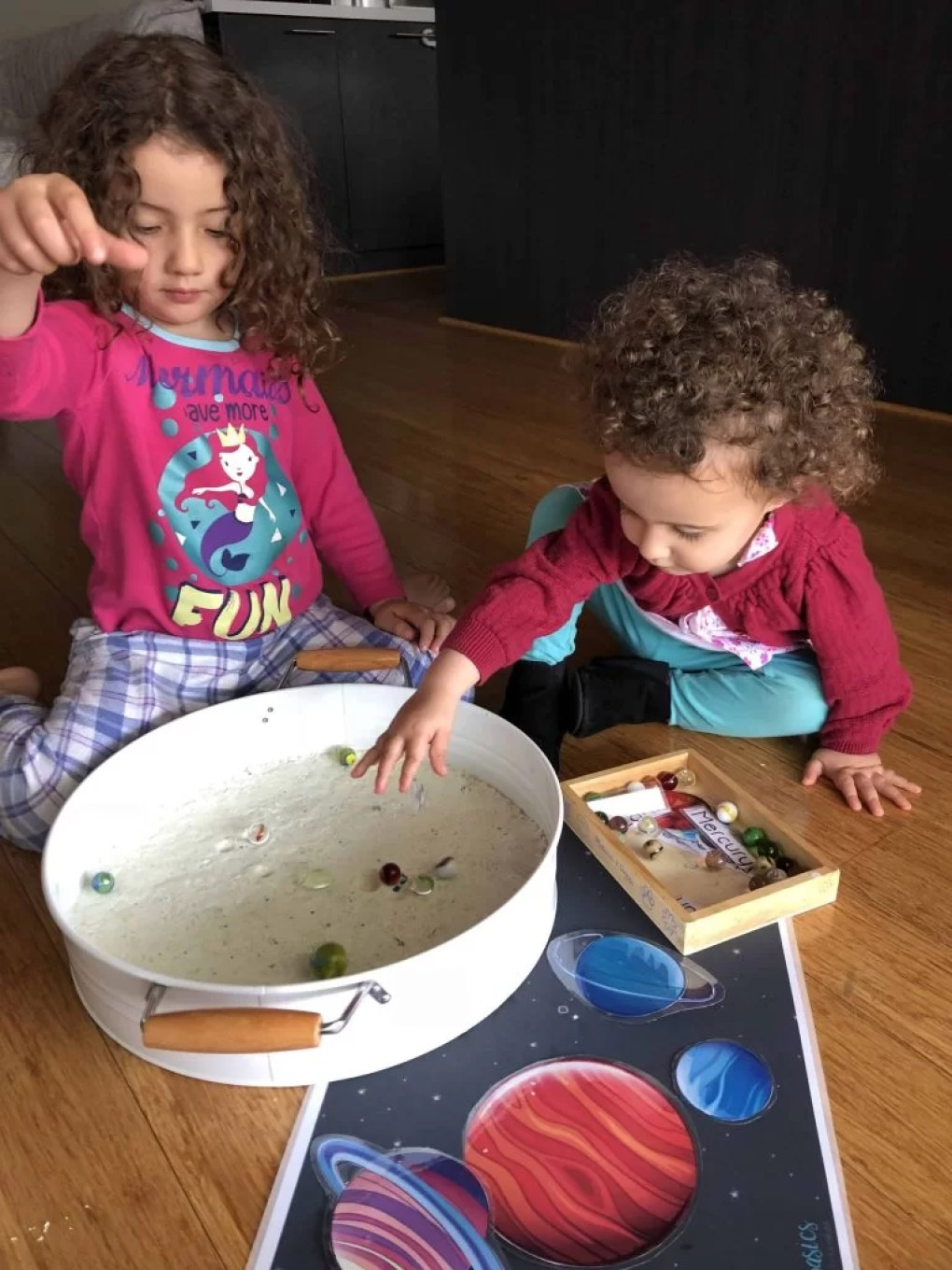 Toddler sensory play moon dust