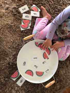 Watermelon Fun with Number Matching Game
