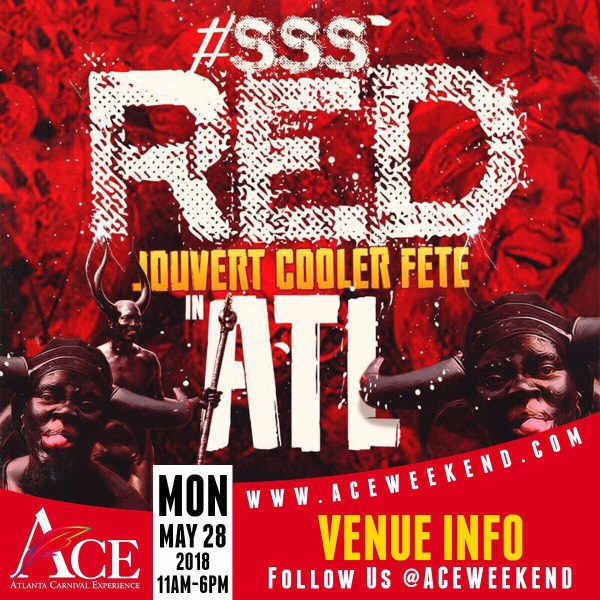 """Mon May 28th - """"#SSS Red"""" (Secret Soca Society) Jouvert Paint & Poweder Party"""
