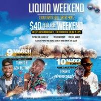 Liquid weekend in Nassau, Bahamas. Splash Soaker Day Fete & Twisted Cooler Fete March 9 -10. Bahamas Carnival, Mas in Paradise SOCA Music