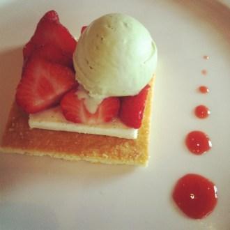 Strawberry tart at Le Montrachet