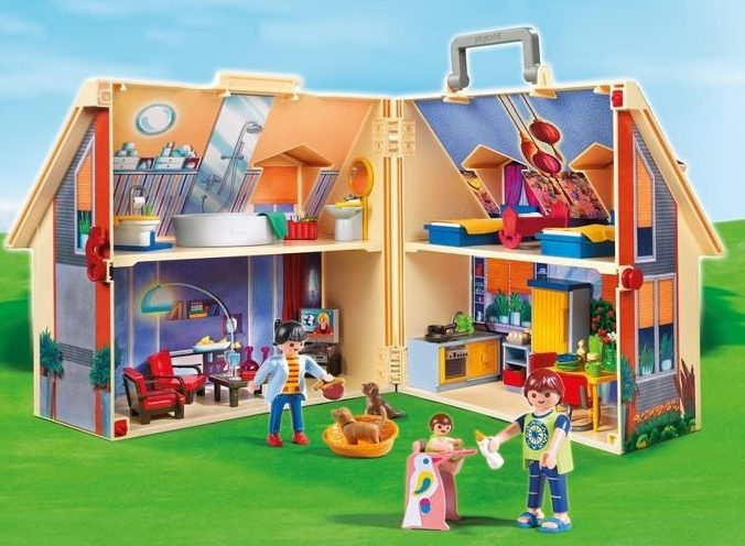 playmobil doll house box euro the deal hunter. Black Bedroom Furniture Sets. Home Design Ideas