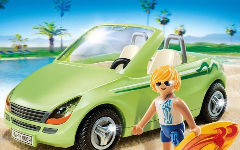 Playmobil convertible car
