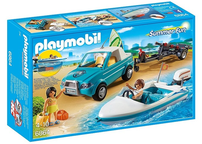Playmobil Speedboat and surfers